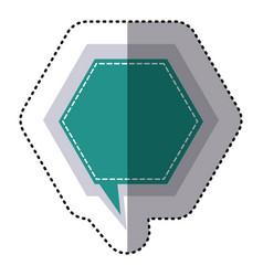 Color sticker hexagon frame callout dialogue vector