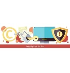 Copyright protection design flat vector