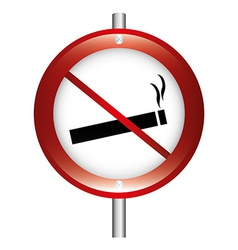 dont smoke vector image