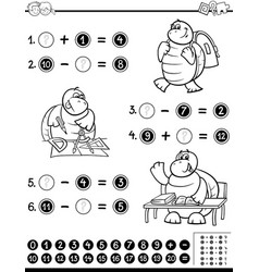 educational worksheet coloring page vector image