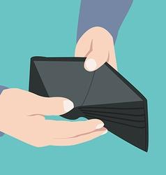 Empty wallet broke - vector