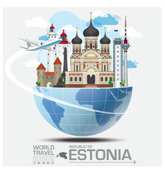 Estonia landmark global travel and journey vector