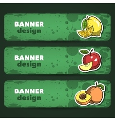 FruitsBanner vector image vector image