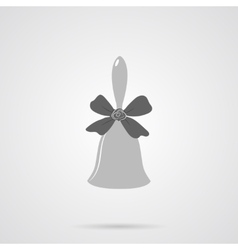 Gray bell flat icon vector