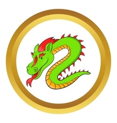 Green chinese dragon icon vector