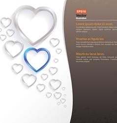 Heart bubble vector