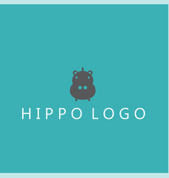 Hippo logo ideas design vector