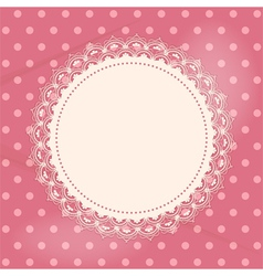 Lace doily background vector