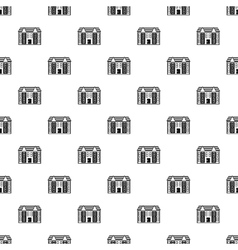 Large two-storey house pattern simple style vector