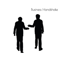 Man in business handshake pose vector