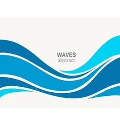 Marine pattern with stylized blue waves vector image vector image