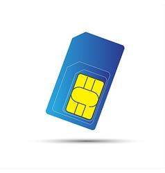 Mobile phone sim card standard micro and nano sim vector