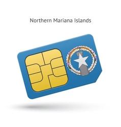 Northern mariana islands mobile phone sim card vector