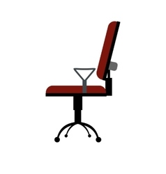 Office chair flat icon vector image vector image