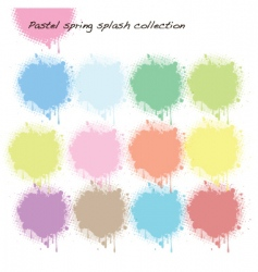 pastel splash collection vector image vector image