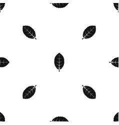 Plum leaf pattern seamless black vector