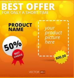 Sale background best offer vector
