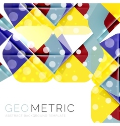 Shiny geometric abstract background vector