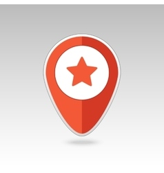 Star favorite pin map icon Map pointer markers vector image vector image