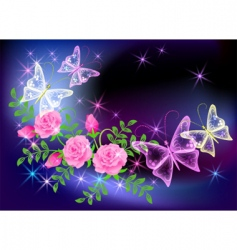 Transparent butterfly vector