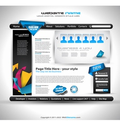 website document vector image