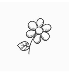 Flower sketch icon vector image