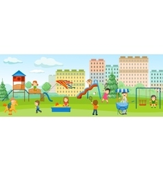 Playground colored concept vector