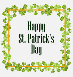 Happy st patricks festive background with vector