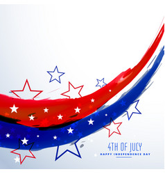 American 4th of july celebration background vector