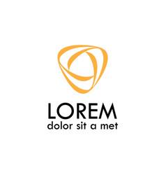 Circle loop tech logo vector