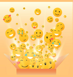 Gift box for the holiday smiley vector