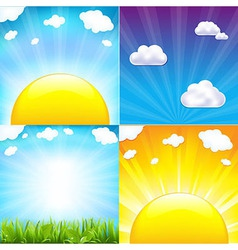 Sun with beams set vector