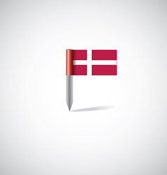 Denmark flag pin vector