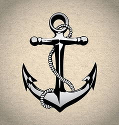 Anchor icon solated nautical heavy iron symbol vector