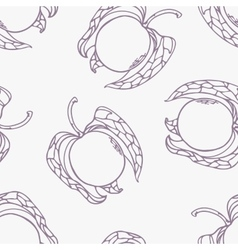 Stylized seamless pattern with outline style vector