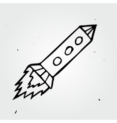 Hand drawn rocket vector