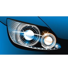 luminescent lamp design of a car vector image