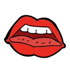 Comic cartoon sexy lips symbol vector