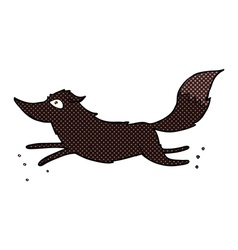 Comic cartoon wolf running vector