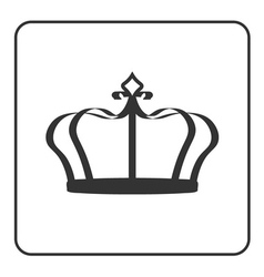 Crown icon isolated on white background vector