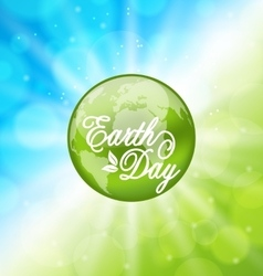 Glowing bright background for earth day holiday vector