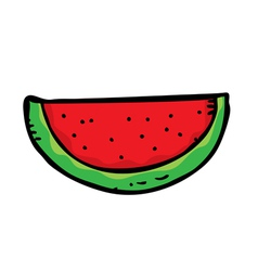 Watermelon slice vector