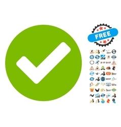 Apply icon with 2017 year bonus symbols vector