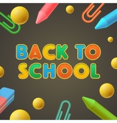 Back to school Kindergarten play and learn vector image vector image