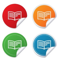 Book sign icon Open book symbol vector image vector image