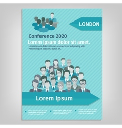 Brochure conference vector