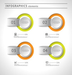 Business infographics elements design template vector image vector image