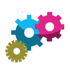 color gears symbol process industry vector image vector image