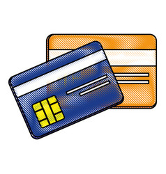 credit cards bank vector image