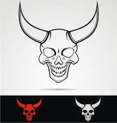Devils Head Tribal vector image